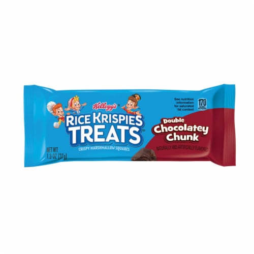 Rice Krispies Double Chocolate Chunk Treats - 1.3 oz. bar, 80 per case Perspective: front