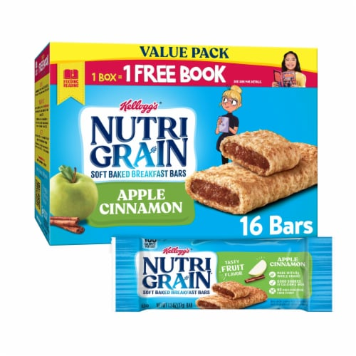 Kellogg's Nutri-Grain Soft Baked Breakfast Bars Apple Cinnamon Value Pack Perspective: front