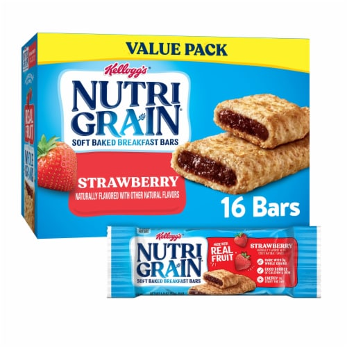 Kellogg's Nutri-Grain Soft Baked Breakfast Bars Strawberry Value Pack Perspective: front