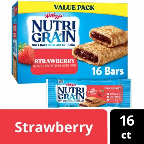 Kellogg's Nutri-Grain Strawberry Soft Baked Breakfast Bars Perspective: front