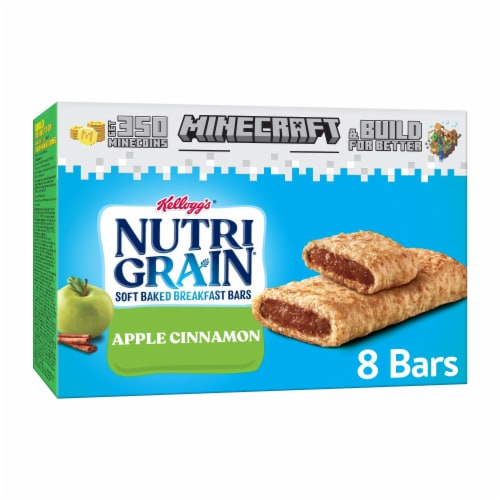 Kellogg's Nutri-Grain Soft Baked Breakfast Bars Apple Cinnamon Perspective: front