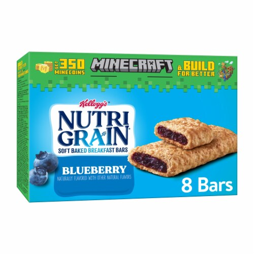 Kellogg's Nutri-Grain Soft Baked Breakfast Bars Blueberry Perspective: front