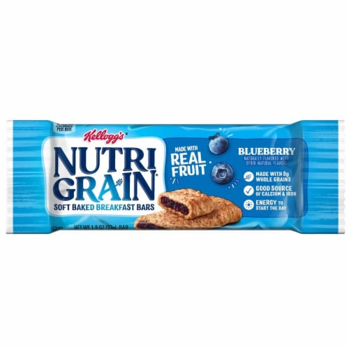Nutrigrain Blueberry Bars 3 Case 16 Count Perspective: front