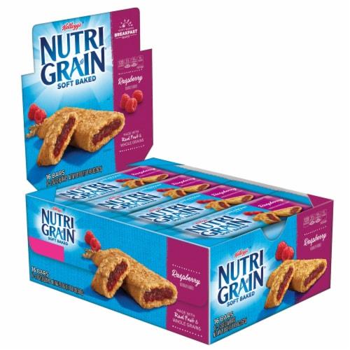Nutrigrain Raspberry Bars 3 Case 16 Count Perspective: front