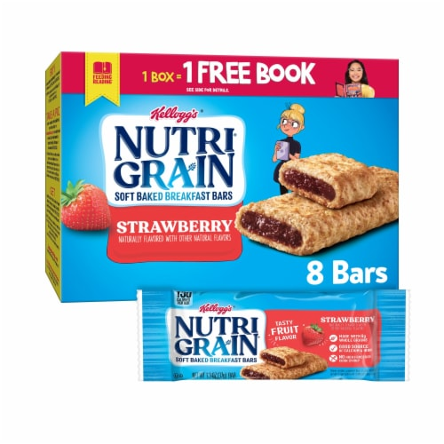 Kellogg's Nutri-Grain Soft Baked Breakfast Bars Strawberry Perspective: front
