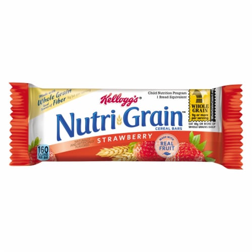 Nutrigrain Strawberry Bars 12 Case 10.4 Ounce Perspective: front