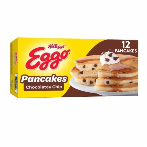 Eggo Chocolatey Chip Pancakes Perspective: front