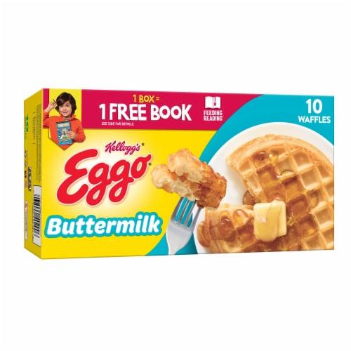 Eggo Frozen Breakfast Waffles Buttermilk Perspective: front