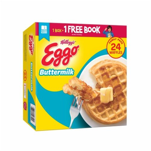 Kellogg's Eggo Frozen Breakfast Waffles Buttermilk Family Pack Perspective: front