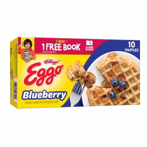 Eggo Frozen Breakfast Waffles Blueberry Perspective: front