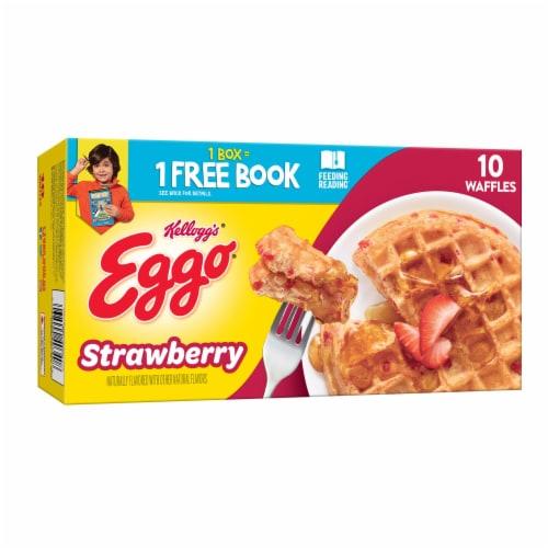 Eggo Frozen Breakfast Waffles Strawberry Perspective: front