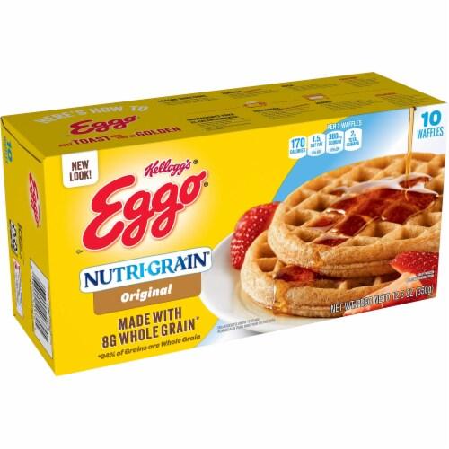 Eggo Nutri-Grain Frozen Breakfast Waffles Original Perspective: front