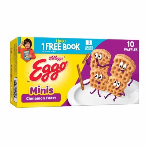 Kellogg's Eggo Minis Frozen Breakfast Waffles Cinnamon Toast Perspective: front