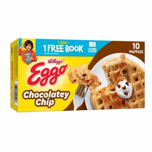 Kellogg's Eggo Chocolatey Chip Frozen Waffles Perspective: front