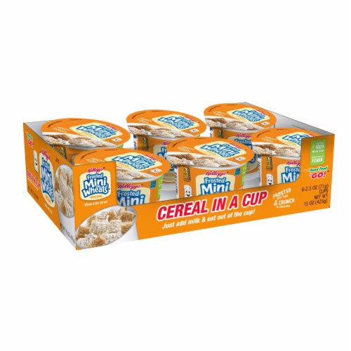 Kellogg's Frosted Mini-Wheats Bite Size Cereal-in-a-Cup, 2.50-Ounce Cups (Pack of 60) Perspective: front