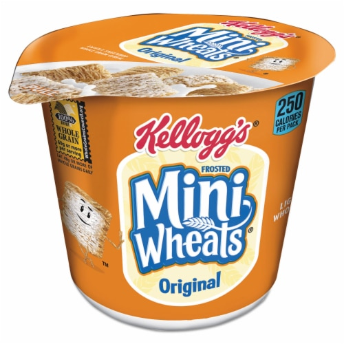 Frosted Mini-Wheats Original Whole Grain Cereal in a Cup Perspective: front