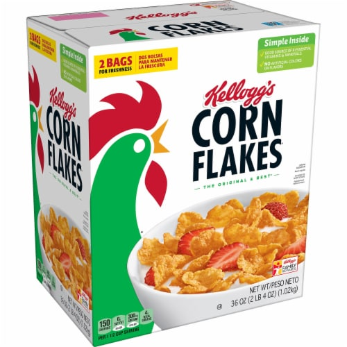 Corn Flakes Cereal Perspective: front