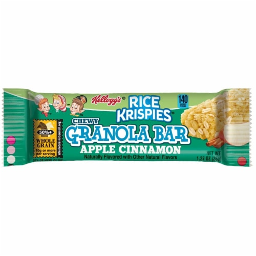 Rice Krispies Chewy Apple Cinnamon Granola Bar, 1.27 Ounces-- 96 per case Perspective: front