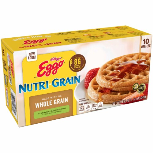 Eggo Nutrigrain Whole Wheat Waffle, 12.3 Ounce -- 8 per case. Perspective: front