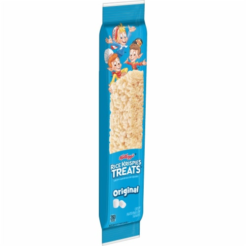 Kellogg's Rice Krispies Treats Marshmallow Squares Bars Original Perspective: front