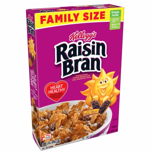 Kellogg's Raisin Bran Cereal Family Size Perspective: front