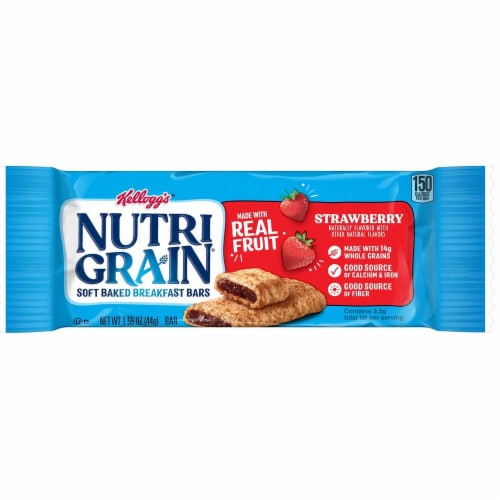 Nutrigrain Strawberry Cereal Bar, 1.55 Ounce -- 96 per case. Perspective: front