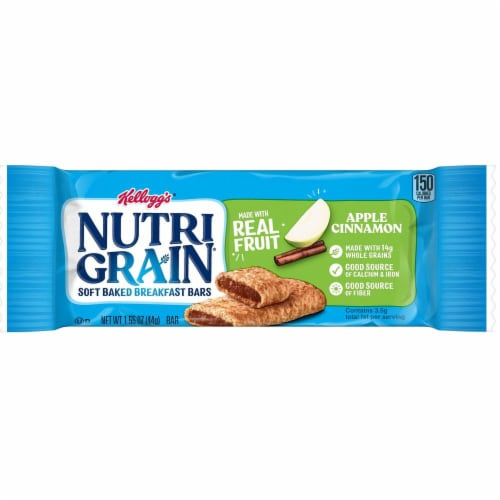 Nutrigrain Apple Cinnamon Cereal Bar, 1.55 Ounce -- 96 per case. Perspective: front