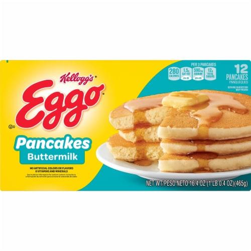 Eggo Frozen Breakfast Pancakes Buttermilk Perspective: front
