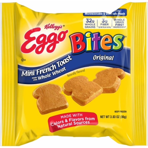 Eggo Minis Original French Toast, 3.03 Ounce -- 72 per case. Perspective: front