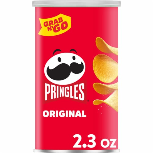 Pringles Potato Crisps Chips Original Grab & Go Perspective: front