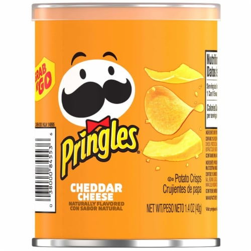 Pringles Small Cheddar Cheese Grab and Go Meal Accompaniment, 1.41 Ounce -- 12 per case. Perspective: front