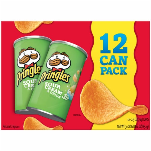 Pringles Sour Cream & Onion Flavored Potato Crisps Chips Multi-Pack Perspective: front