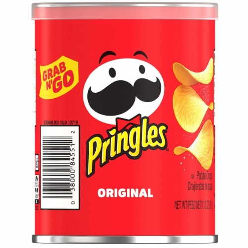 Pringles Small Original Grab and Go Meal Accompaniment, 1.3 Ounce -- 36 per case. Perspective: front