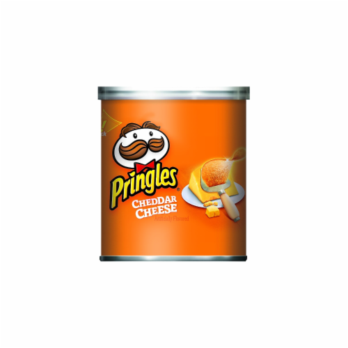Pringles Grab and Go Small Cheddar Cheese Meal Accompaniment, 1.41 Ounce -- 36 per case. Perspective: front