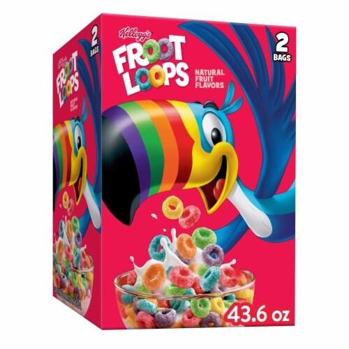 Kellogg's Froot Loops Original Breakfast Cereal Perspective: front