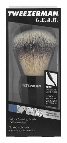 Tweezerman G.E.A.R. Deluxe Shaving Brush Perspective: front