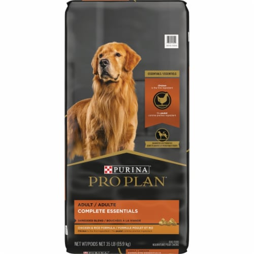 Purina Pro Plan Savor Shredded Chicken/Rice Dry Dog Food 32 lb. - Case Of: 1; Perspective: front