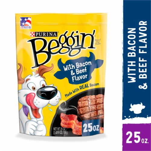 Purina Beggin' Strips Bacon & Beef Flavor Dog Treats Perspective: front