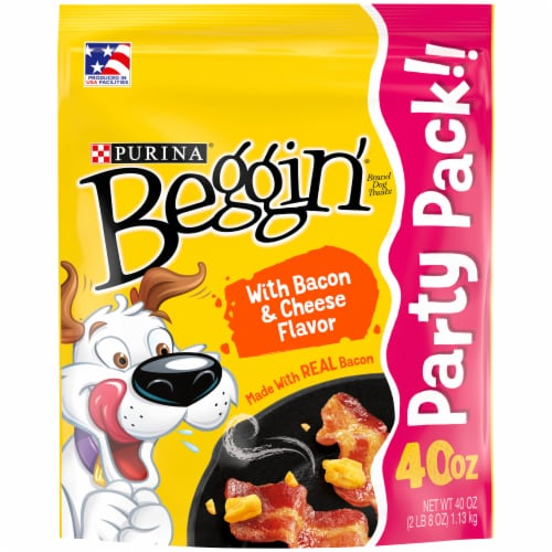 Purina Beggin' Bacon & Cheese Flavor Dog Treats Perspective: front