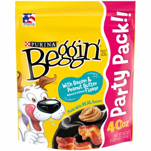 Beggin' Strips Bacon and Peanut Butter Flavored Dog Treats Perspective: front