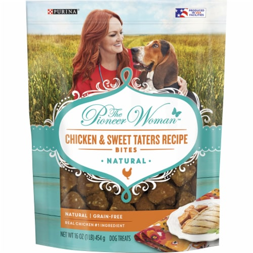 The Pioneer Woman Chicken & Sweet Taters Recipe Bites Dog Treats Perspective: front