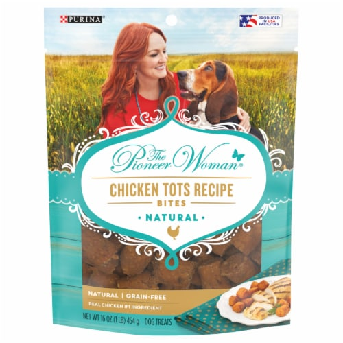 The Pioneer Woman Chicken Tots Recipe Bites Dog Treats Perspective: front