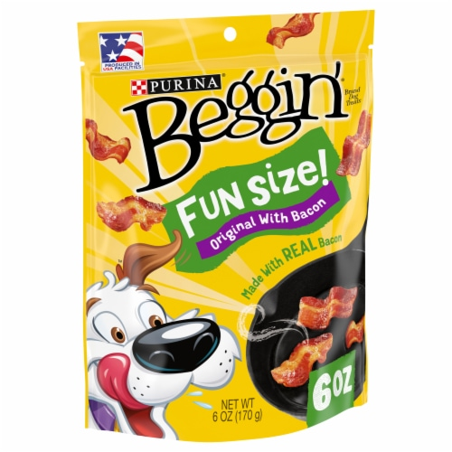 Purina® Beggin'® Strips Fun Size Originals with Bacon Flavor Dog Treats Perspective: front