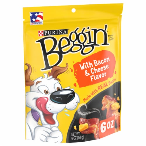 Beggin' Strips Bacon & Cheese Flavor Dog Treats Perspective: front