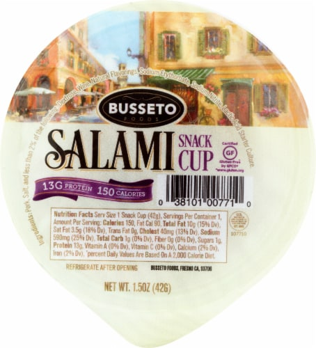 Busseto Salami Snack Cup Perspective: front