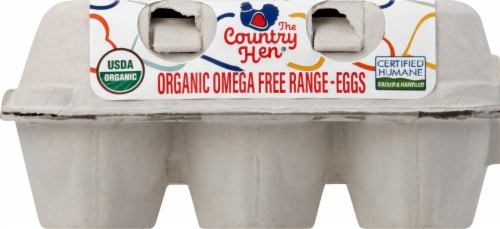 The Country Hen Organic Large Grade A Brown Eggs Perspective: front