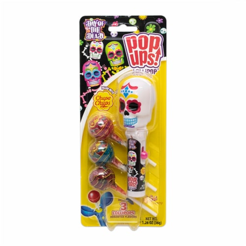 Flix Day of The Dead Pop Up Lollipops Perspective: front