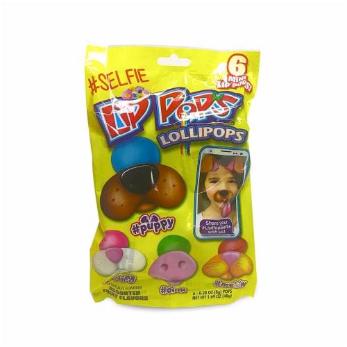 Flix Lip Pops Assorted Fruit Favors Lollipops 6 Count Perspective: front