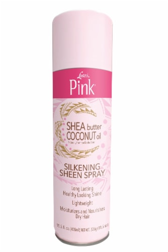 Luster's Pink Shea Butter & Coconut Oil Silkening Sheen Spray Perspective: front