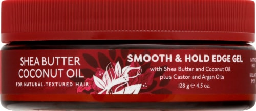 Luster's Pink Shea Butter Coconut Oil Edge Gel Perspective: front